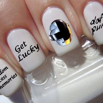 Daft Punk Nail Decals