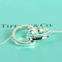 Tiffany & Co. Fashion women double ring necklace
