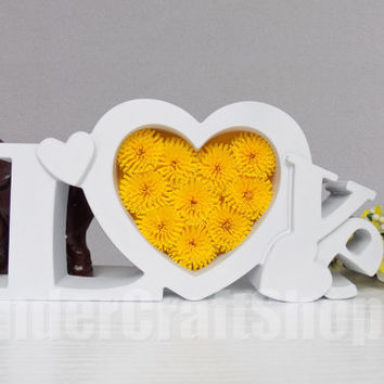heart home decor, love sign, yellow heart, paper heart, anniversary gift for her, birthday gift, lettered love, love wall art, nursery art