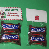 CHRISTMAS SNICKERS  TOPPERS, paper,favor,gift,bag,chocolate,candy