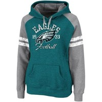 Philadelphia Eagles Ladies Green Huddle Pullover Hoodie Sweatshirt