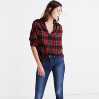 Central Long-Sleeve Shirt in Tartan Plaid : shopmadewell button-up & popover shirts   Madewell
