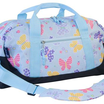 Wildkin Olive Kids Butterfly Garden Duffel Bag - Kids (Blue)