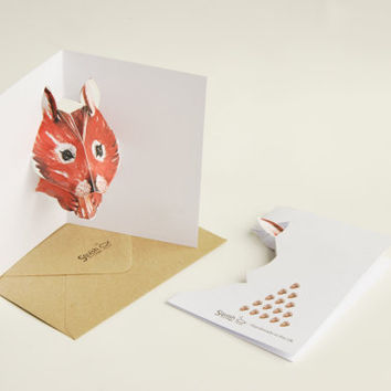Squirrel Pop-up Card - 3D - Handmade