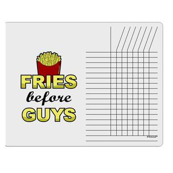 Fries Before Guys Chore List Grid Dry Erase Board by TooLoud
