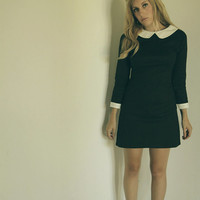 Peter pan collar dress black Suzy Bishop Moonrise kingdom