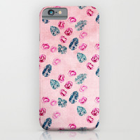 rose pattern iPhone & iPod Case by Ingrid Beddoes