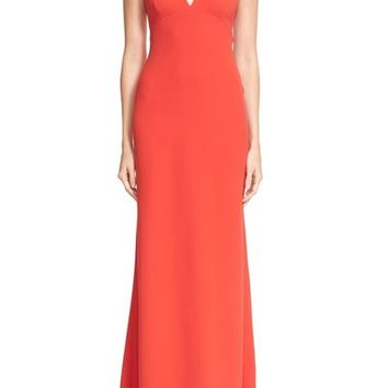 T by Alexander Wang Exposed Back Crepe Maxi Dress | Nordstrom