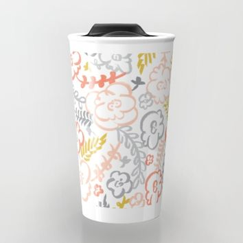 Floral Brush Travel Mug by Heather Dutton
