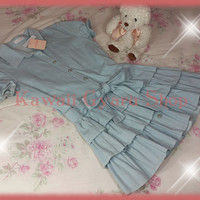 Liz Lisa / My Melody 15th Anniversary Collaboration Chambray Ruffle Skirt Dress (NwT)