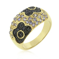 Purple And Black Rose Ring, size : 09