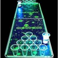 Glowing Alien Beer Pong Table - 6.5 ft - Spencer's