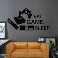 kik2548 Wall Decal Sticker joystick controller Xbox 360 Game PS4 player bedroom teens