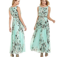 Women's Boho Sleeveless Long Summer Maxi Chiffon Sexy Evening Party Beach Dress = 1946318468