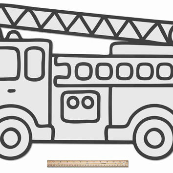 Funnest Fire Truck - Kids, Boys, Nursery & Baby Room Ideas, Fantastically Large Wood Wall Decor