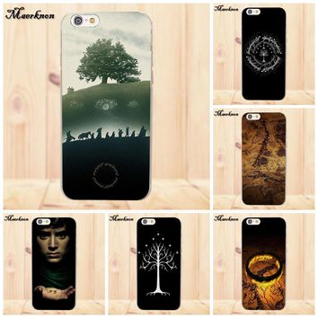 Popular Case The Lord Of The Rings The One Ring For Apple iPhone X 4 4S 5 5C SE 6 6S 7 8 Plus For LG G4 G5 G6 K4 K7 K8 K10