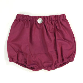 WINE COTTON BLOOMERS