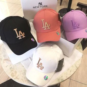 """Los Angeles Dodgers"" Unisex Simple All-match Letter Embroidery Baseball Cap Couple Peaked Cap Sun Hat"