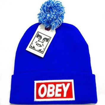 Obey Women Men Embroidery Beanies Knit Wool Hat Cap-25