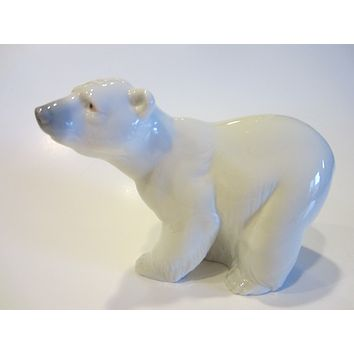 Lladro Porcelain Polar Bear Made in Spain Marked Numbered