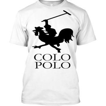 'Colo Polo Game Chicken Running' Funny Slogan Men Women Unisex T Shirt Top Tee (105) W