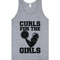Curls for the Girls-Unisex Athletic Grey Tank