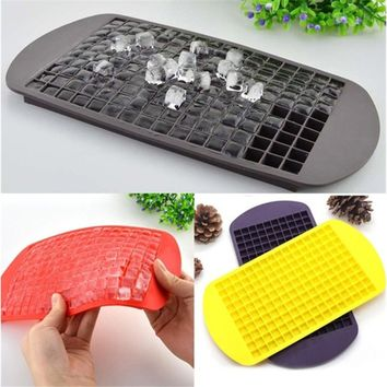 Food Grade Silicone 160 Small Ice Maker Tiny Ice Cube Trays Chocolate Mold Mould Maker For Kitchen Bar Party Drinks []