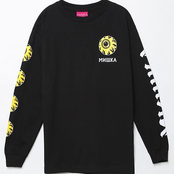 Mishka Keep Watch Long Sleeve T-Shirt - Mens Tee - Black