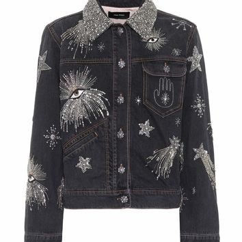 Eloise beaded denim jacket