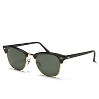 Mens Ray-Ban 3016 Clubmaster Classic Sunglasses Black Accessory Sports