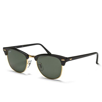e9f85a4478 Mens Ray-Ban 3016 Clubmaster Classic Sunglasses Black Accessory