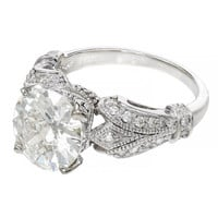 Art Deco Diamond White Gold Engagement Ring