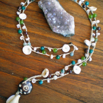 Beach Comber Crochet Wrap Surf Jewelry