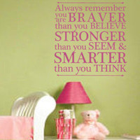 Winnie the Pooh You Are Braver than you believe, Stronger than you see