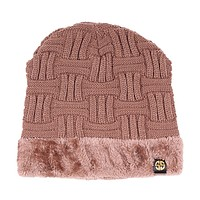 Sherpa Lined Beanie in Taupe by Simply Southern