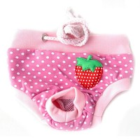 Female Pet Dog Puppy Sanitary Cute Shorts Panty Striped Diaper Underwear