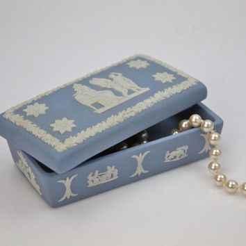 Wedgwood Blue Jasper Jewelry Box