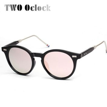 2016 New Designer Round Frame Sunglasses Women Retro Sunglass Oliver People Vintage Mirrored Sun Glasses For Men Blue Pink 1680