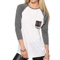 Empyre Indira Plaid Pocket Baseball T-Shirt