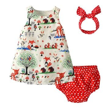 Newborn Baby Girl Clothes Cartoon Animals  Baby Clothing