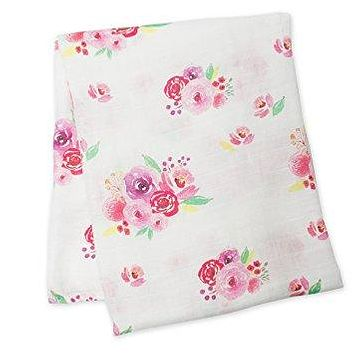 Posies Floral Cotton Swaddle Blanket