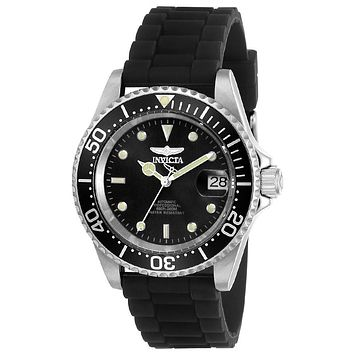 INVICTA Pro Diver Mens Automatic - Stainless Steel - Black Dial & Strap - 200m
