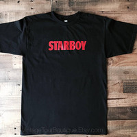 Starboy The Weeknd XO Black Tee Shirt Starboy Tour Merch T-Shirt