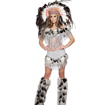 Roma Costume 4582 - 3pc Lusty Indian Maiden Women's Costume