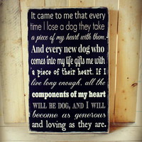 Dog Heart Wall Art - Order by 12/13 for Priority Mail Expected Christmas Delivery US Only - Dog Sign Dog Word Sign Dog Typography Sign