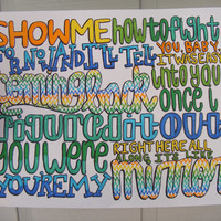 Mirros Lyric Drawing by TaylorandEmilysEtsy on Etsy