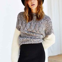 KNITZ By For Love & Lemons Snuggler Sweater Skirt- Black