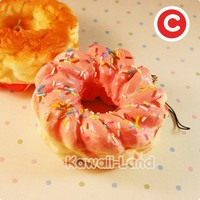 Kawaii Squishy Croissant Cooler Donut Phone Charm - Kawaii Land