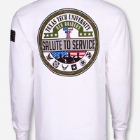 Texas Tech Salute To Service White Long Sleeve Shirt