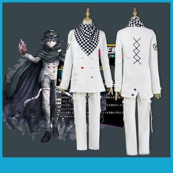 CREY6F Anime Danganronpa V3 Ouma kokichi Cosplay Costume Japanese Game School Uniform Suit Outfit